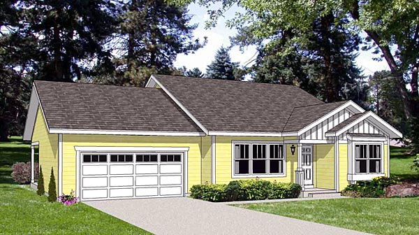 Traditional House Plan 94468 Elevation