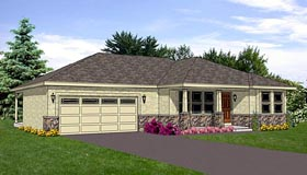 Southwest House Plan 94470 with 2 Beds, 2 Baths, 2 Car Garage Elevation