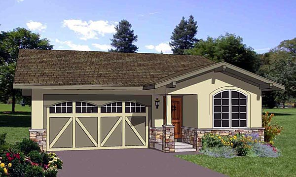 Southwest House Plan 94476 Elevation