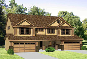 Traditional Multi-Family Plan 94478 Elevation