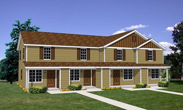 Traditional Multi-Family Plan 94485 with 8 Beds , 4 Baths Elevation