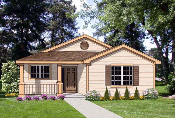 Country House Plan 94487 with 3 Beds, 2 Baths, 2 Car Garage Elevation