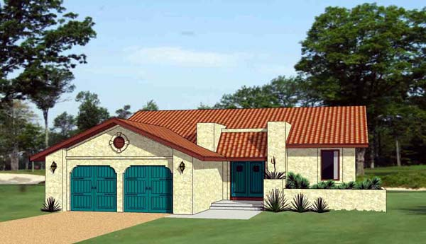 Southwest House Plan 94490 Elevation
