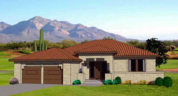 Southwest House Plan 94492 Elevation