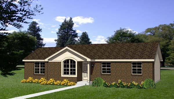 House Plan 94493 Elevation