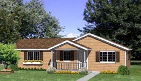 House Plan 94494 with 4 Beds, 2 Baths, 2 Car Garage Elevation