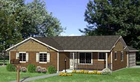 Plan Number 94495 - 1362 Square Feet