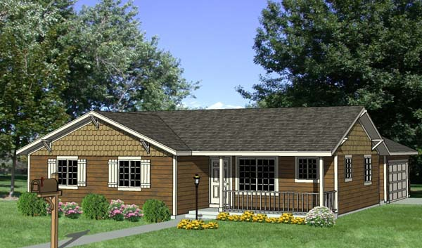 House Plan 94495 Elevation