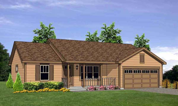 House Plan 94497 Elevation
