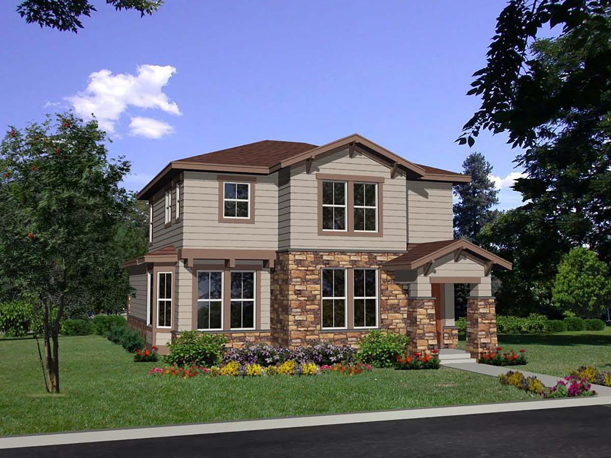 Craftsman, European House Plan 94498 with 3 Beds, 3 Baths, 2 Car Garage Elevation