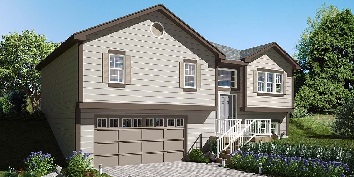 Traditional House Plan 94499 with 3 Beds, 3 Baths, 2 Car Garage Elevation