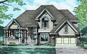 Colonial European House Plan 94900 Elevation