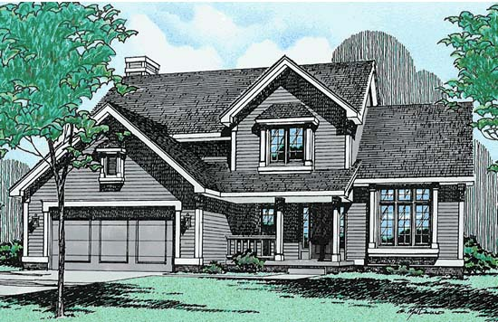 Country House Plan 94901 Elevation