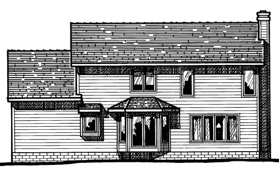 Country House Plan 94901 Rear Elevation