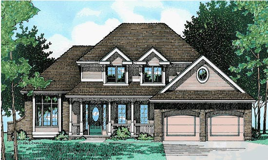 Colonial Country European House Plan 94906 Elevation