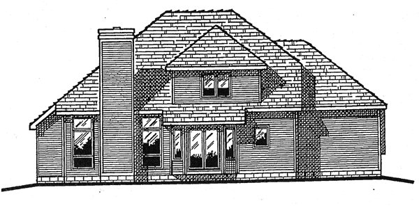 Colonial Country European House Plan 94906 Rear Elevation