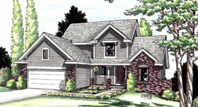 Country House Plan 94910 Elevation