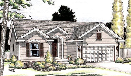 One-Story , Ranch , Elevation of Plan 94913