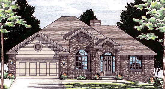 European House Plan 94917 Elevation