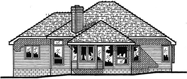 European House Plan 94917 Rear Elevation