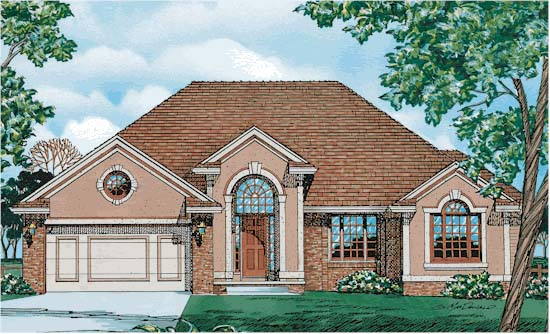 European House Plan 94923 Elevation