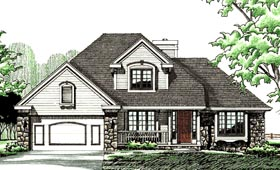 Country , European House Plan 94924 with 3 Beds, 3 Baths, 2 Car Garage Elevation