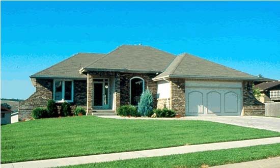 European House Plan 94925 with 3 Beds, 2 Baths, 2 Car Garage Picture 1