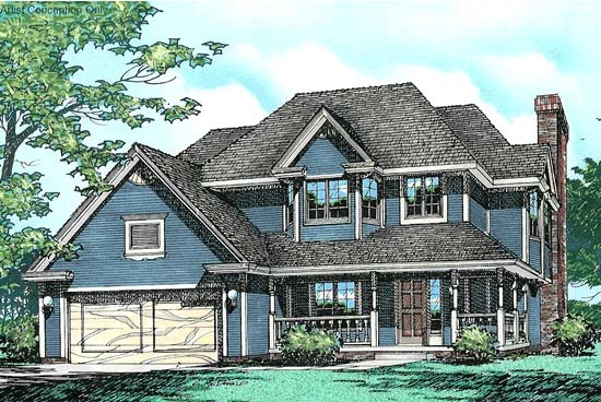 Country European House Plan 94935 Elevation