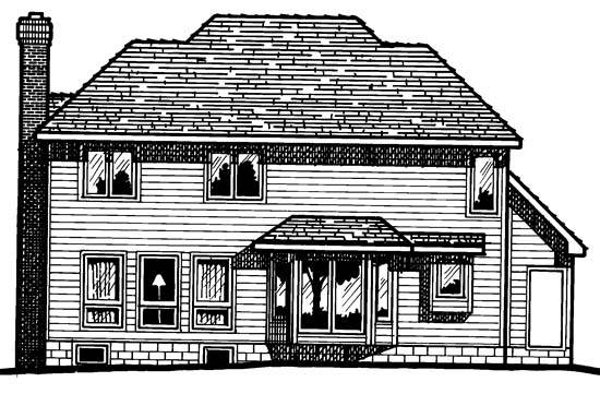 Country European House Plan 94935 Rear Elevation