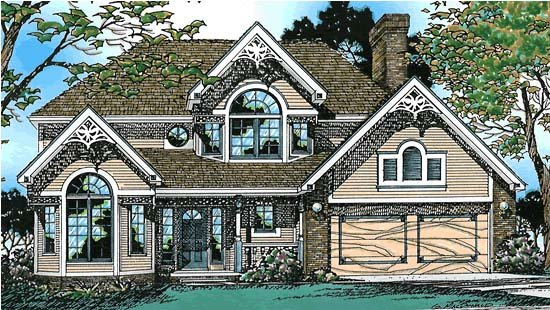 Bungalow Country European House Plan 94936 Elevation
