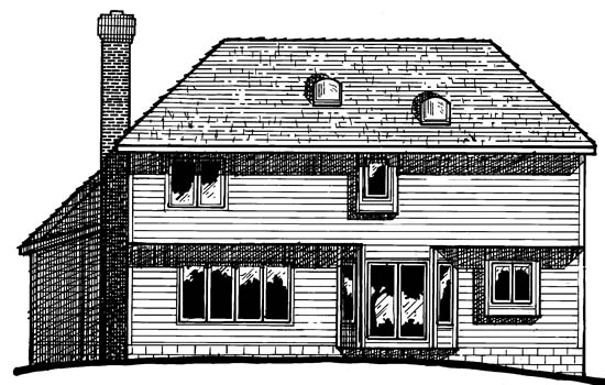 Bungalow Country European House Plan 94936 Rear Elevation