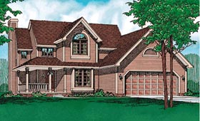 Country Farmhouse House Plan 94938 Elevation