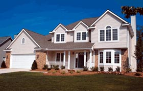 Colonial , Country , European House Plan 94941 with 4 Beds, 3 Baths, 2 Car Garage Elevation