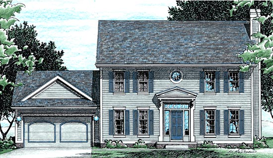 Colonial Country Southern House Plan 94944 Elevation
