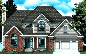 Country European House Plan 94950 Elevation