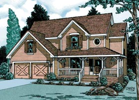 Country House Plan 94951 Elevation