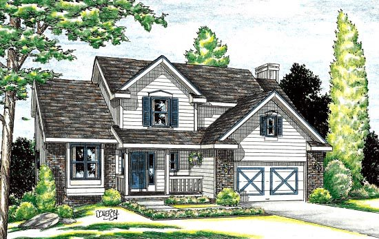 Country House Plan 94953 Elevation