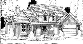 House Plan 94955 | Country Style Plan with 2370 Sq Ft, 4 Bedrooms, 3 Bathrooms, 2 Car Garage Elevation