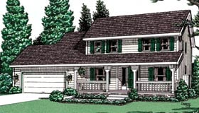 Country House Plan 94957 Elevation