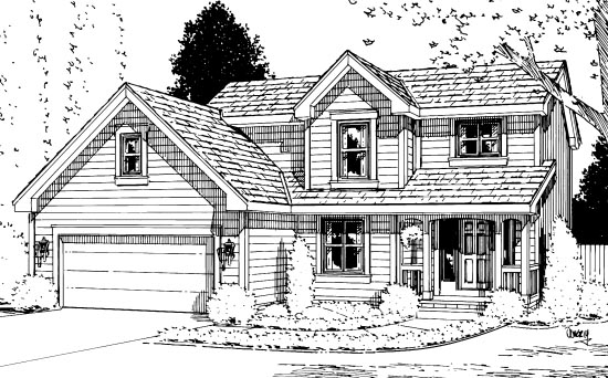 Country House Plan 94961 Elevation