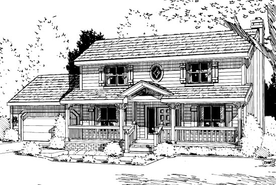 Country House Plan 94962 Elevation