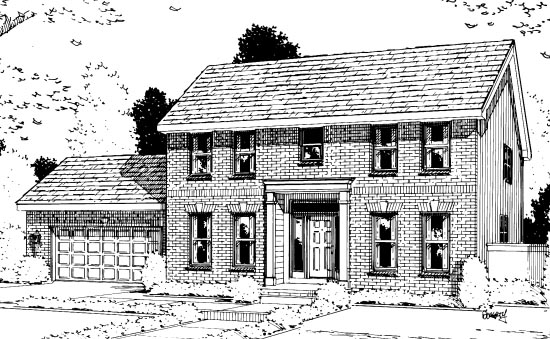 Colonial House Plan 94964 Elevation