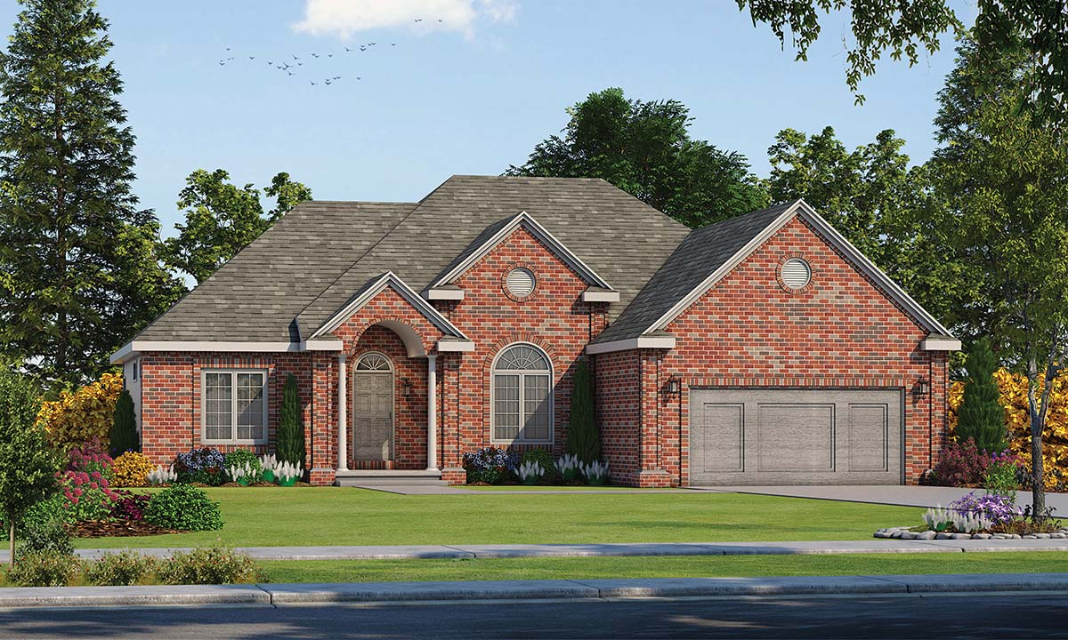 European House Plan 94966 Elevation