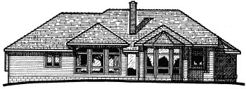 Traditional House Plan 94967 Rear Elevation