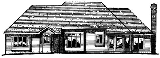 European House Plan 94968 Rear Elevation