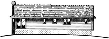 Traditional House Plan 94970 Rear Elevation