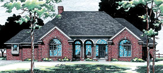 House Plan 94973 | European Style Plan with 2512 Sq Ft, 2 Bedrooms, 3 Bathrooms, 3 Car Garage Elevation