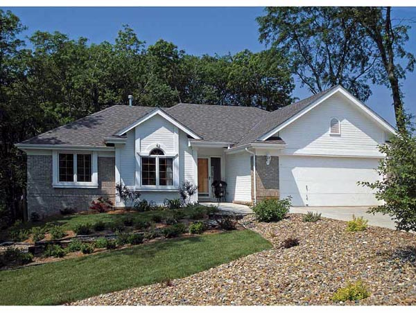 Ranch House Plan 94974 with 3 Beds, 2 Baths, 2 Car Garage Elevation