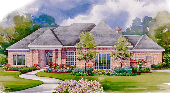 European House Plan 94975 Elevation