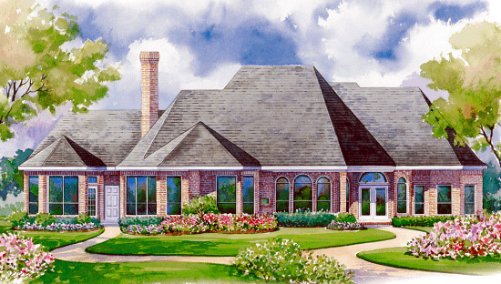 European House Plan 94975 Rear Elevation